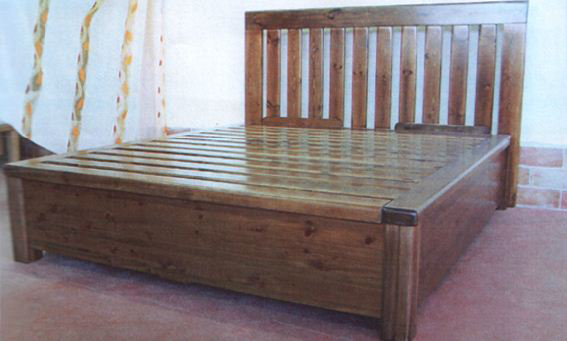 Letto contenitore in legno massello u centro materassi di roberto